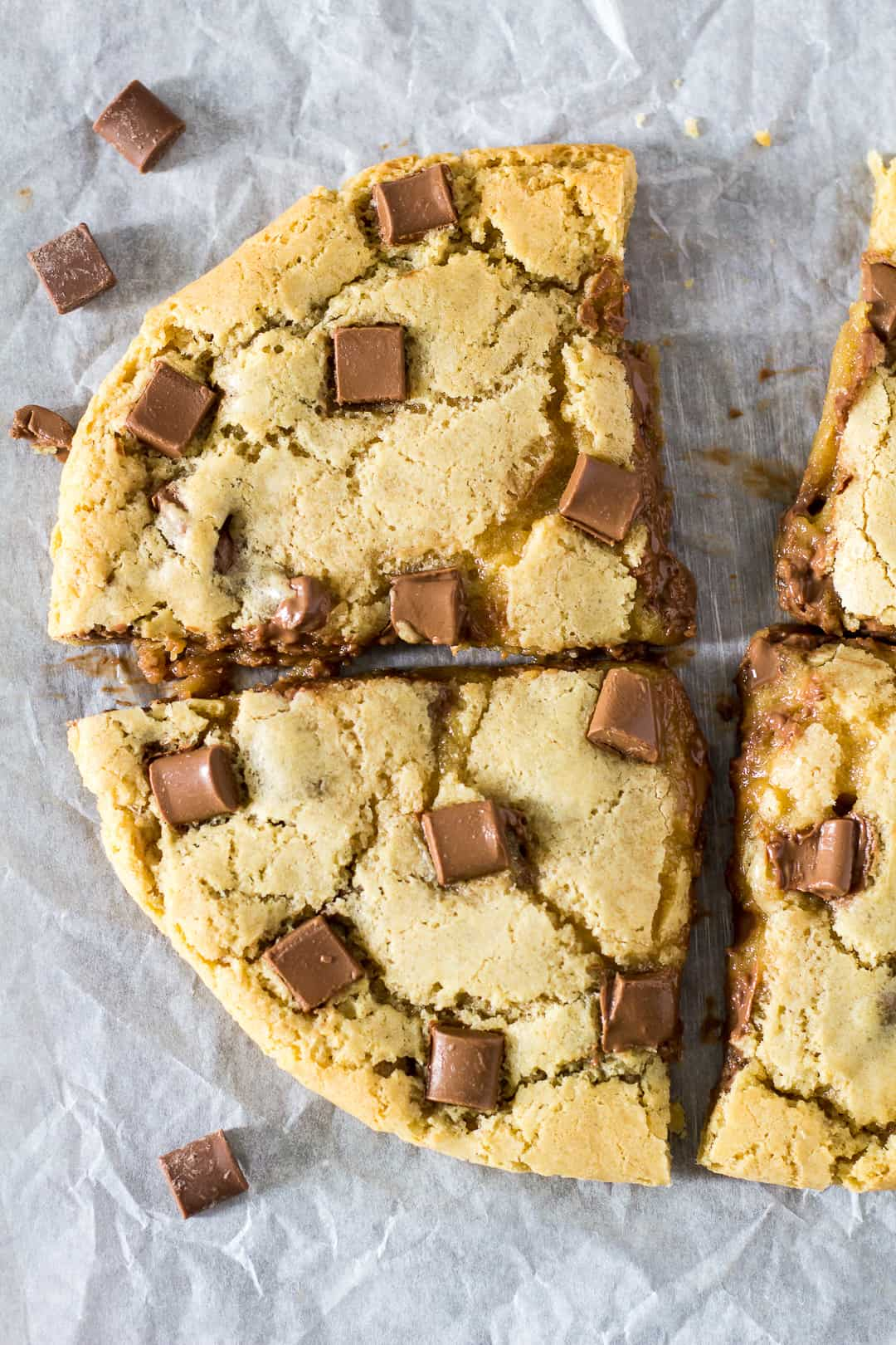Giant Chocolate Chip Peanut Butter Cookie