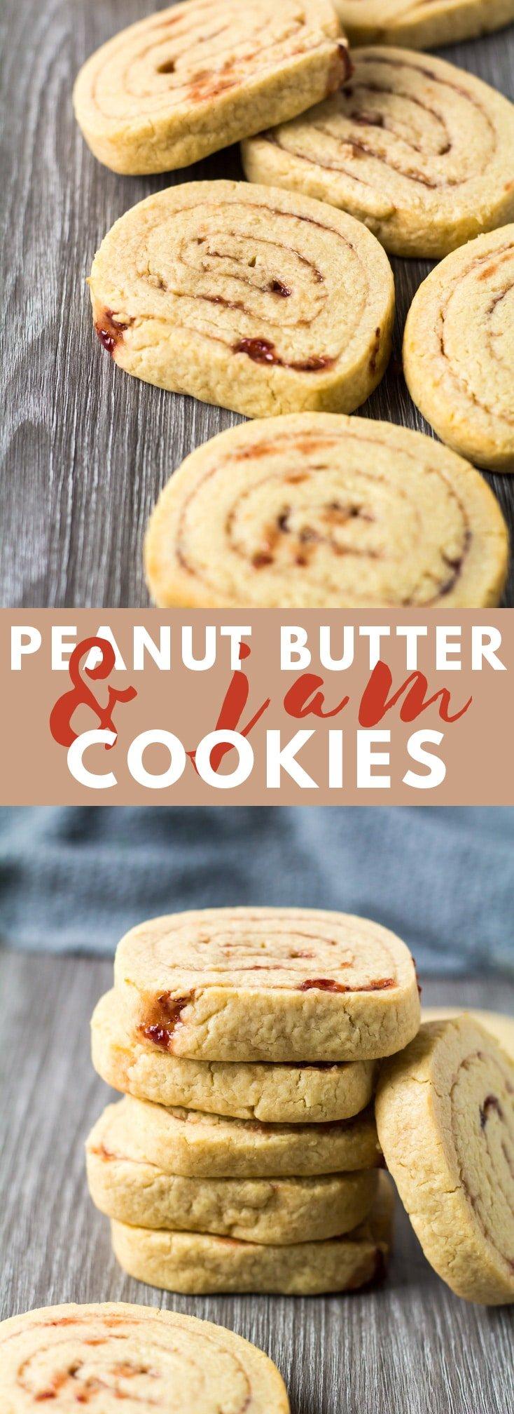 Peanut Butter & Jam Pinwheel Cookies