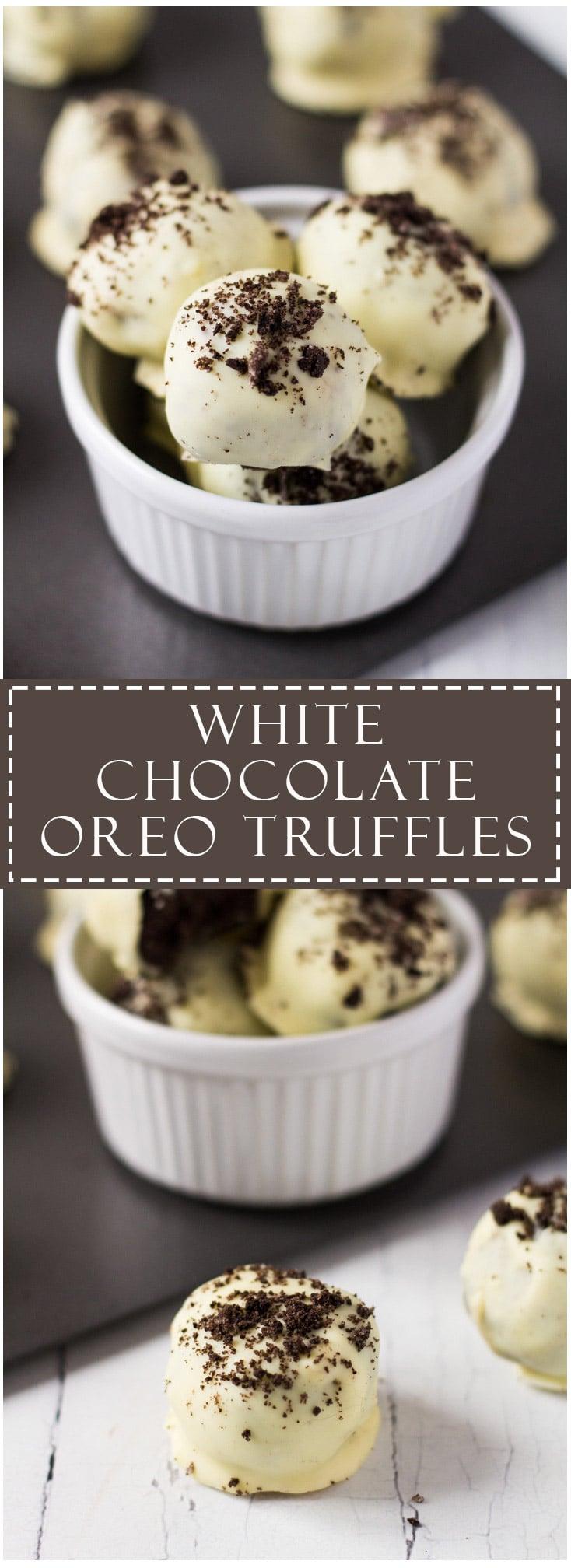 White Chocolate Oreo Truffles
