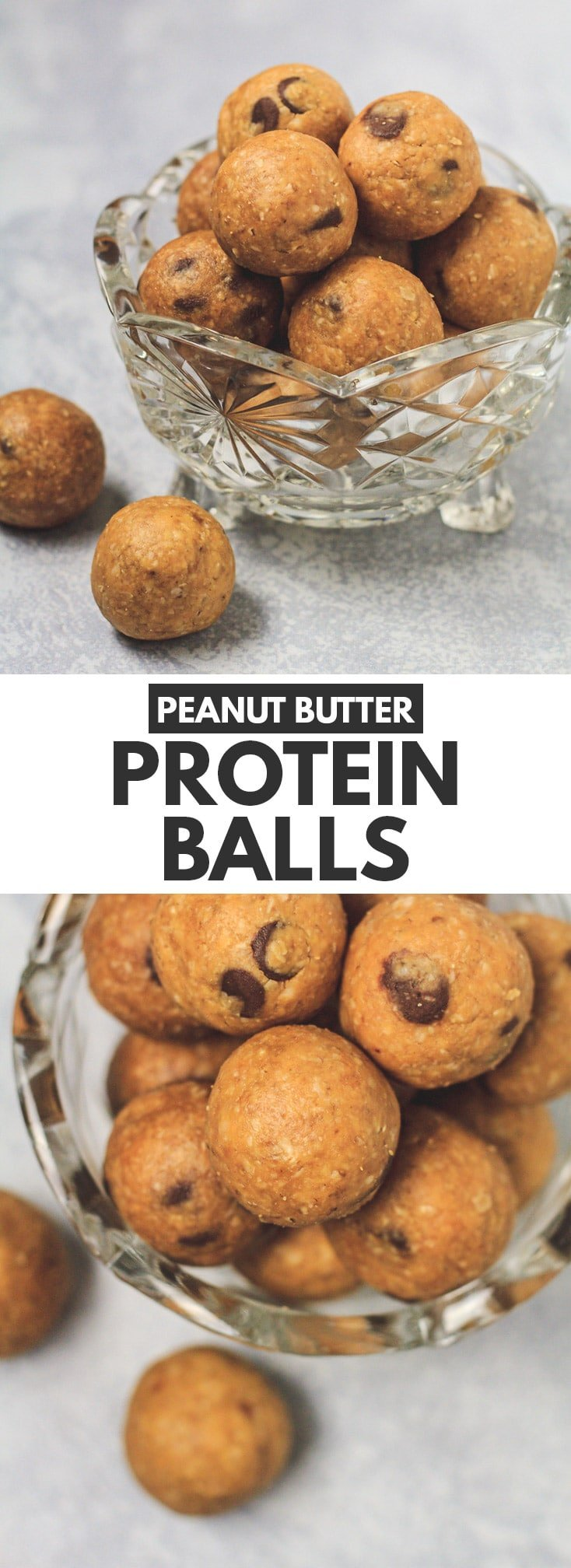 No-Bake Peanut Butter Protein Balls - Deliciously fudgy bites that are packed full of peanut butter flavour. Made from just a few simple ingredients, these energy balls make the perfect healthy snack! #peanutbutter #energybites #proteinballs #healthyrecipes