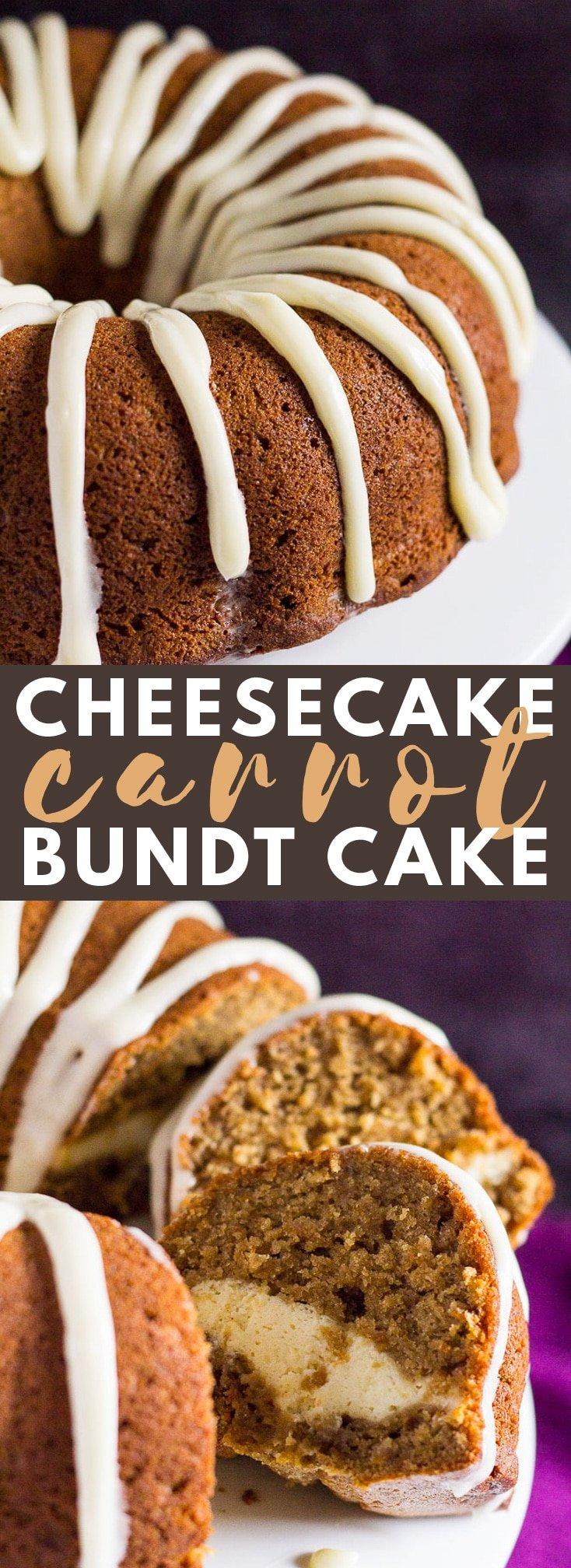 Cheesecake Swirl Carrot Bundt Cake