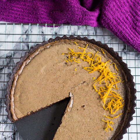 Dark Chocolate Orange Tart