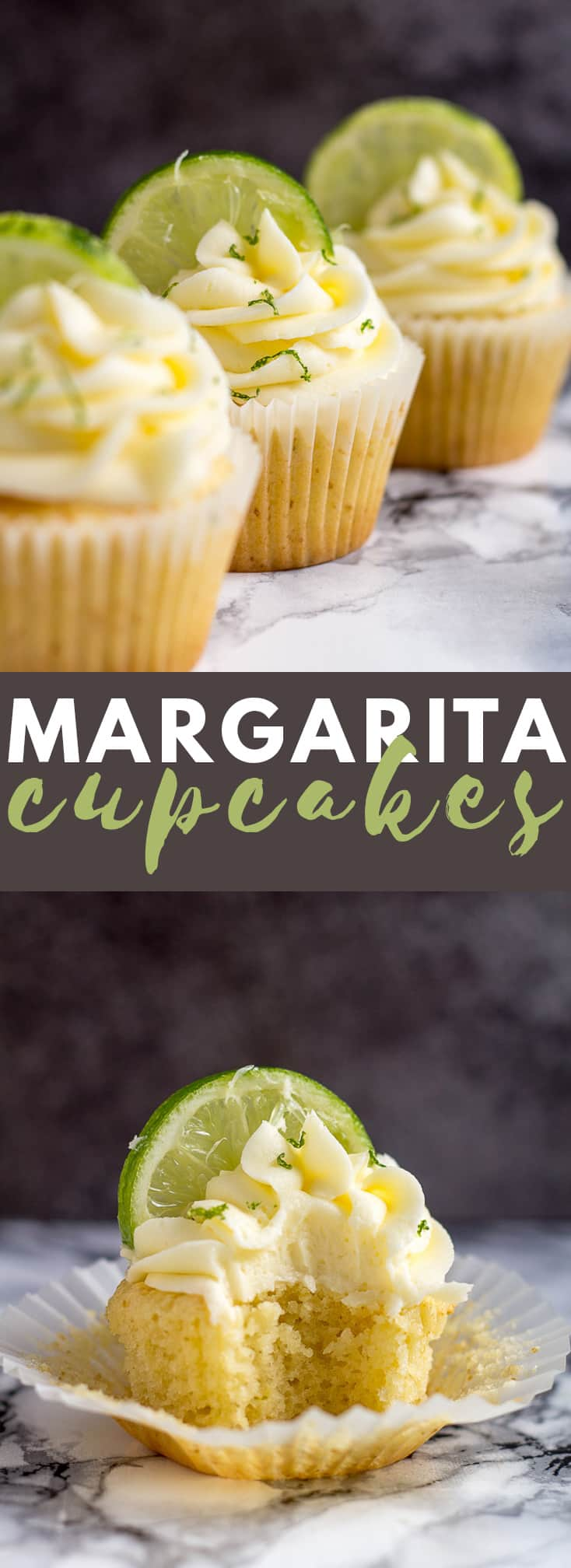 Margarita Cupcakes- Deliciously moist and fluffy cupcakes infused with lime and tequila, and topped with a tequila buttercream frosting! #margarita #cupcakes #cupcakerecipes #summerrecipes