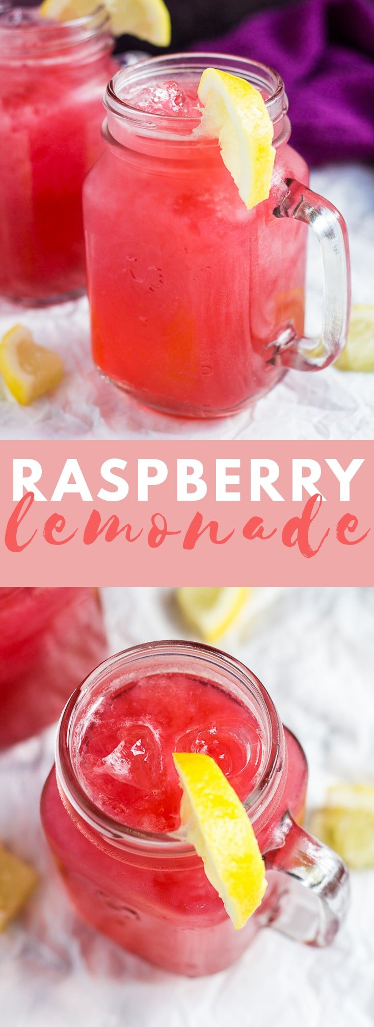 Raspberry Lemonade - Deliciously cool and refreshing raspberry lemonade made with fresh raspberries and lemons. Perfect for hot summer days! #raspberry #lemonade #summerrecipes