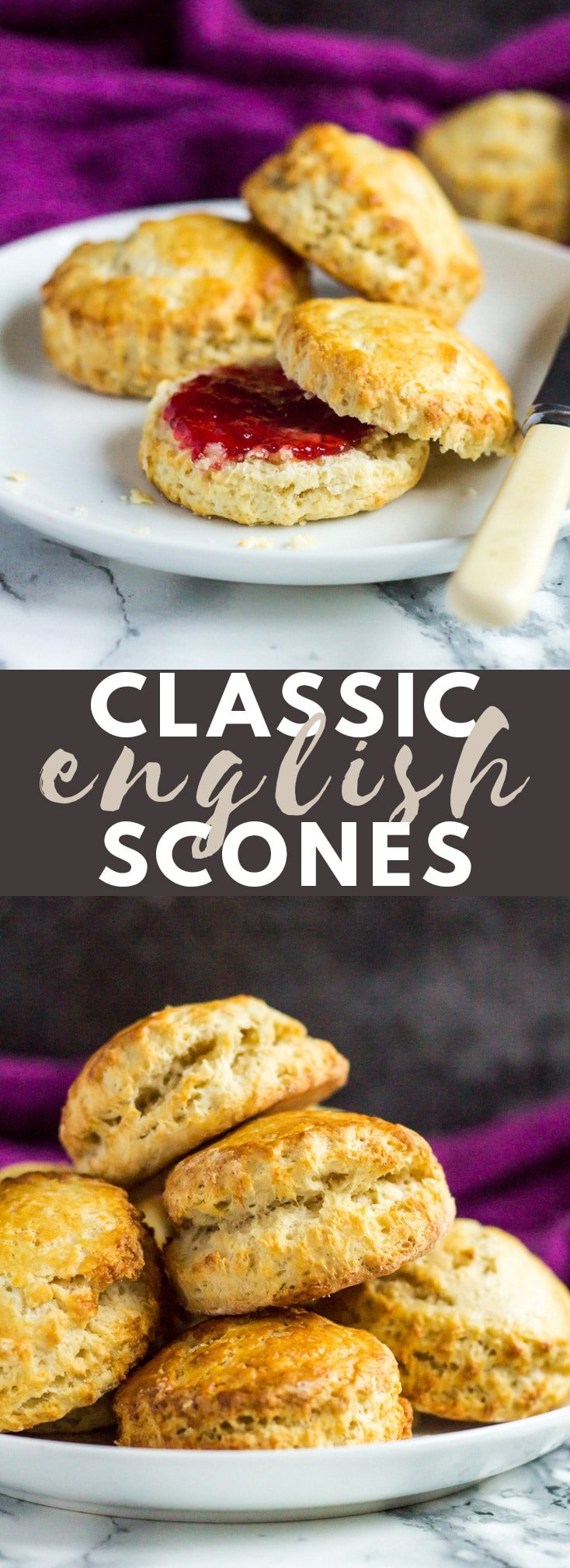 Classic English Scones - These deliciously fluffy scones are perfect served warm or cold with clotted cream and jam. Pair with your morning cup of tea for an indulgent breakfast! #scones #breakfast #breakfastrecipes