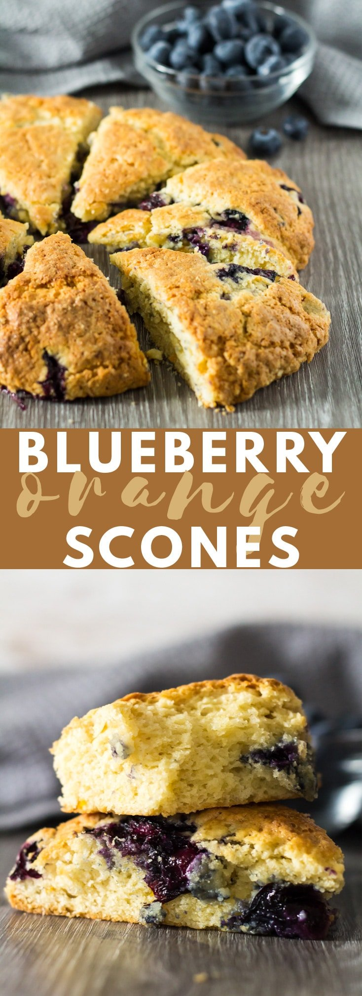 Blueberry Orange Scones - These orange-infused scones are deliciously soft on the inside, crispy on the outside, and stuffed full of fresh blueberries! #blueberryscones #blueberry #scones #sconerecipes #breadrecipes #breakfast #breakfastrecipes #recipe