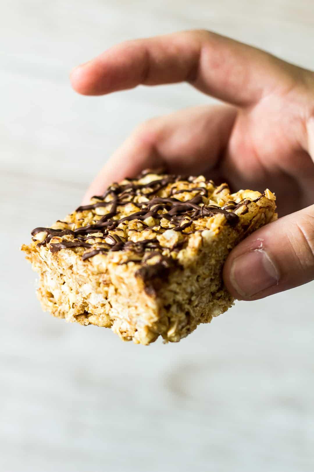 No-Bake Almond Butter Breakfast Bars