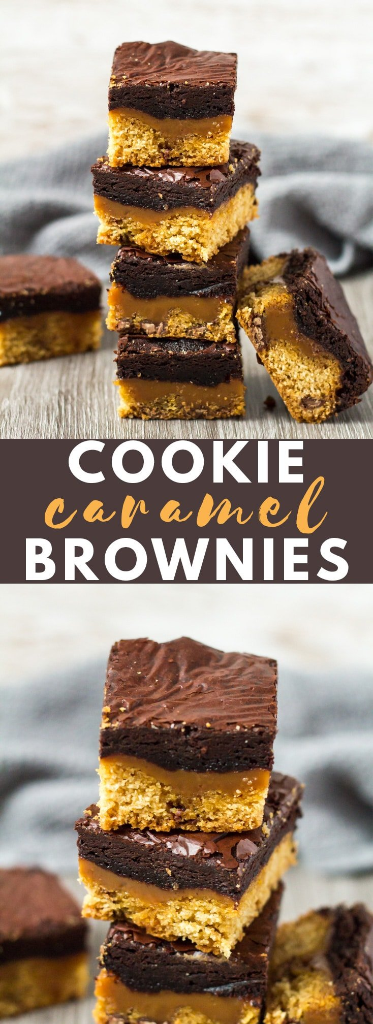 Chocolate Chip Cookie Caramel Brownies