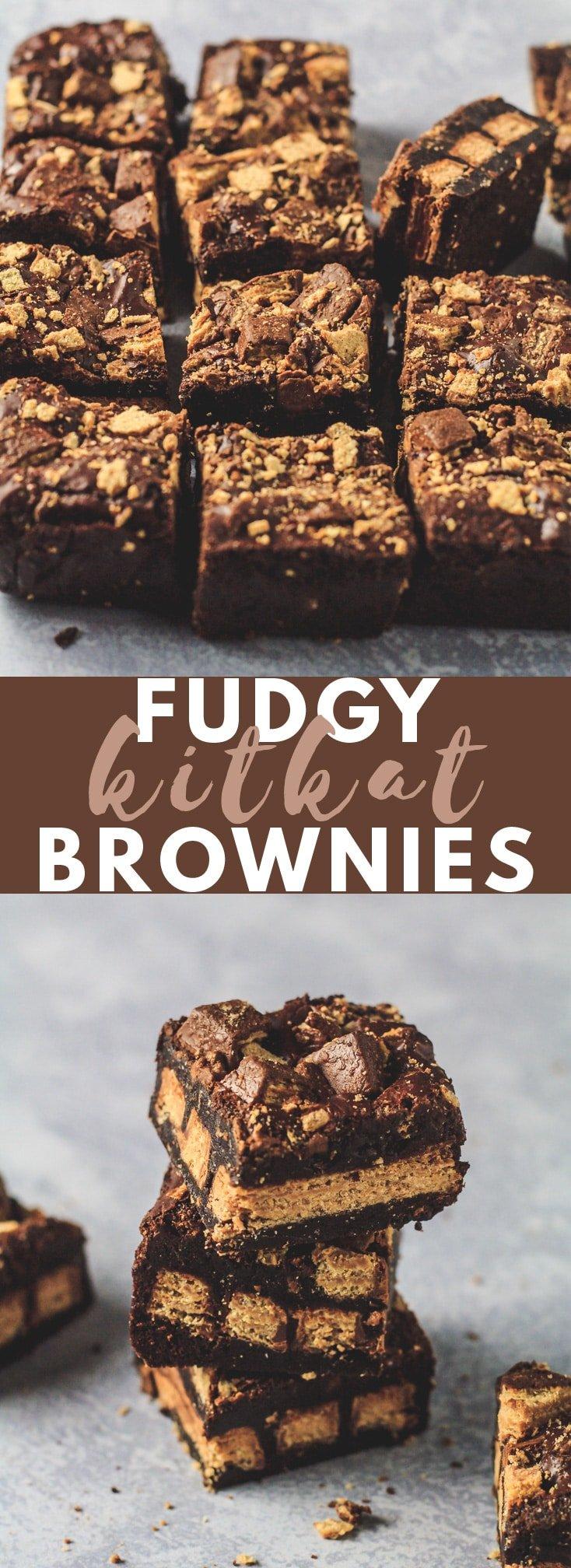 Fudgy KitKat Brownies