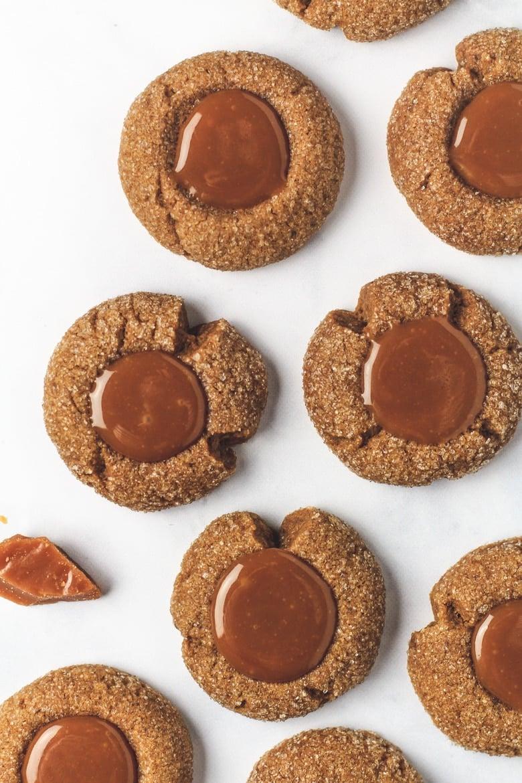 Coffee Thumbprint Cookies