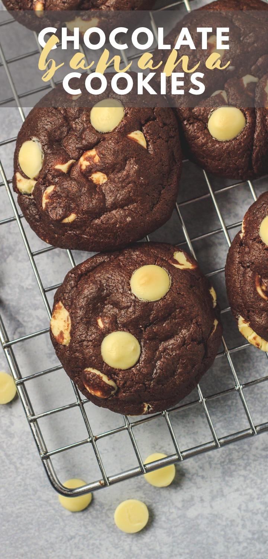 Double Chocolate Banana Cookies