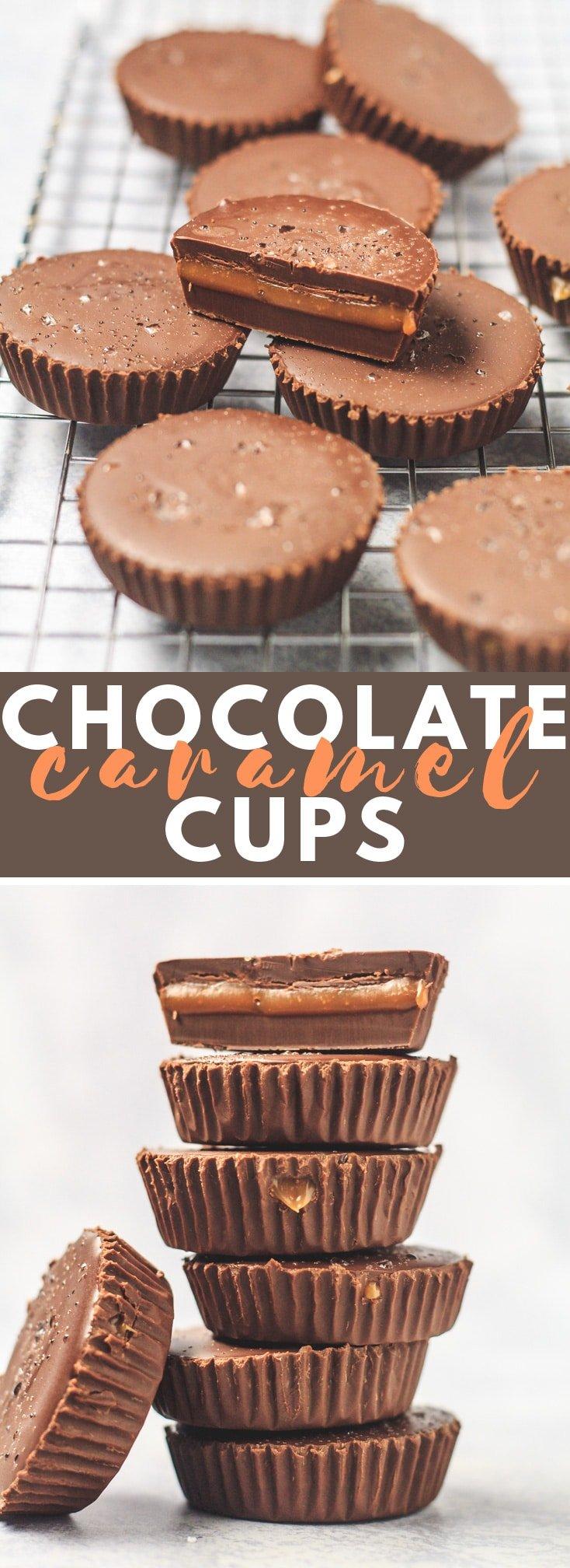 Salted Caramel Chocolate Cups