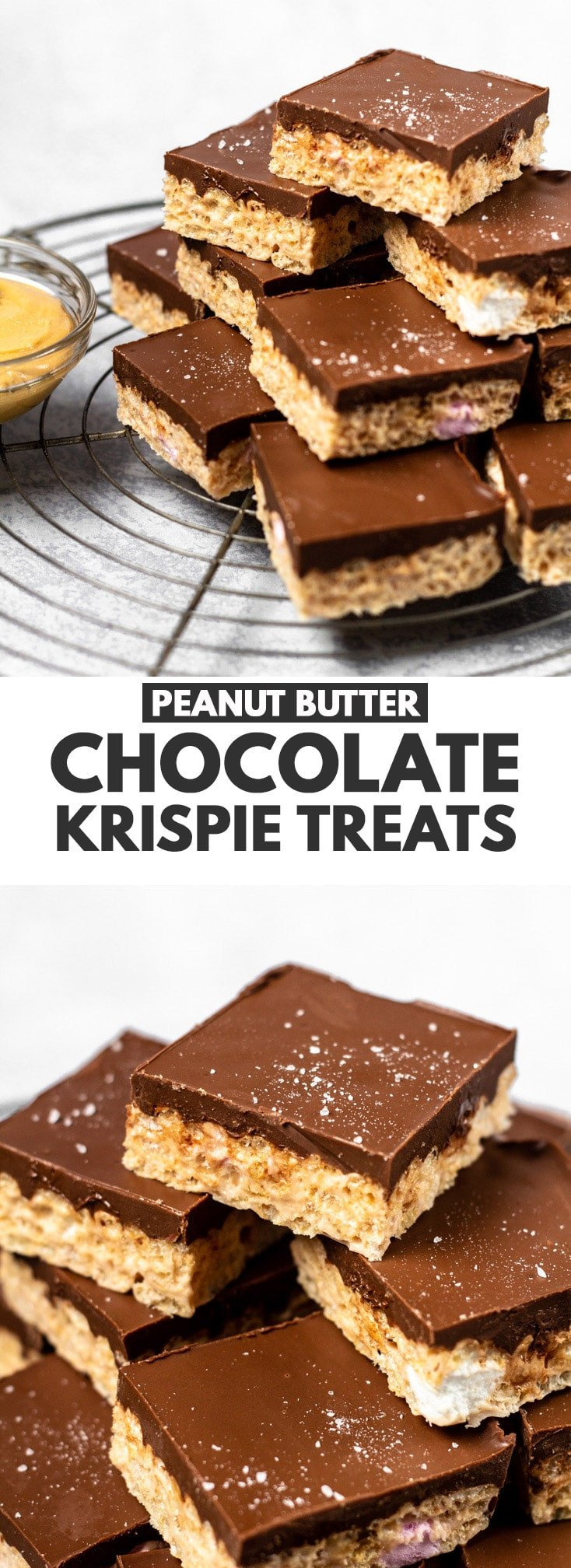 Chocolate Peanut Butter Krispie Treats