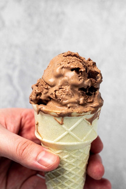 No-Churn Mocha Ice Cream